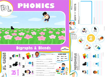 BL Blends Phonics Workbook (LOW PREP)