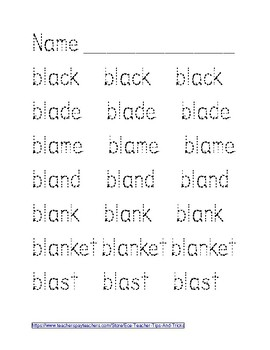 BL - Blends Tracing Sheets
