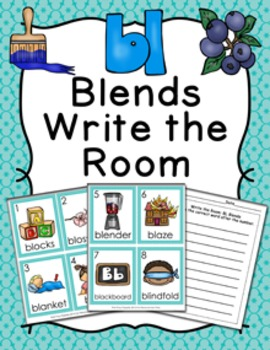 BL Blends Write the Room Activity