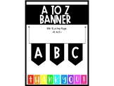 BLACK A to Z Banner or Bunting (Make any banner you need!)