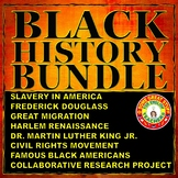 BLACK AMERICAN HISTORY Bundle of Presentations and Activities DISTANCE LEARNING