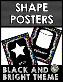 BLACK AND BRIGHTS CLASSROOM DECOR (2D AND 3D SHAPES POSTER