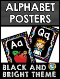 BLACK AND BRIGHTS CLASSROOM DECOR (ALPHABET POSTERS WITH P