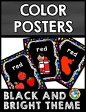 BLACK AND BRIGHTS COLOR POSTERS FOR CLASSROOM