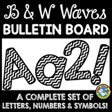 BLACK AND WHITE BULLETIN BOARD LETTERS PRINTABLE A-Z, NUMBERS AND SYMBOLS