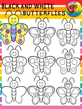 BLACK AND WHITE BUTTERFLY CLIPART.(FREE )