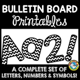 BLACK AND WHITE CLASSROOM DECOR BULLETIN BOARD LETTERS PRINTABLE, NUMBERS, ETC