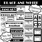 Classroom Decor (Black and White Theme) *Editable*