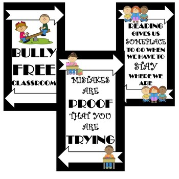 BLACK AND WHITE Classroom Posters Bundle!