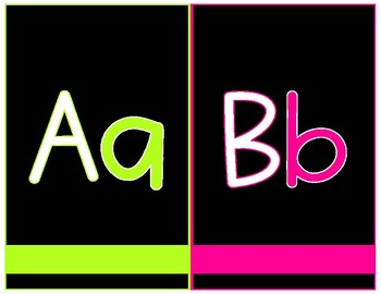 BLACK & BRIGHTS ALPHABET