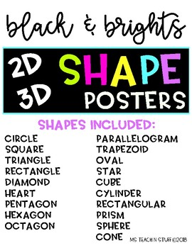 BLACK & BRIGHTS SHAPE POSTERS