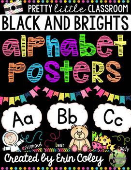 Alphabet Posters: Pretty Little Classroom Decor (BLACK & B