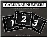 BLACK CHALKBOARD CALENDAR NUMBERS
