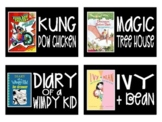 BLACK Chapter Book Series Picture Book AR Library Labels