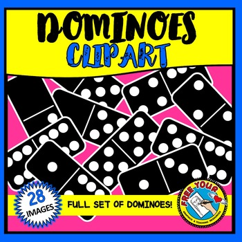 BLACK DOMINOES CLIPART: MATH CLIPART: DOMINO CLIPART