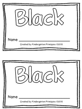 BLACK: Emergent Reader (Common Core Aligned)