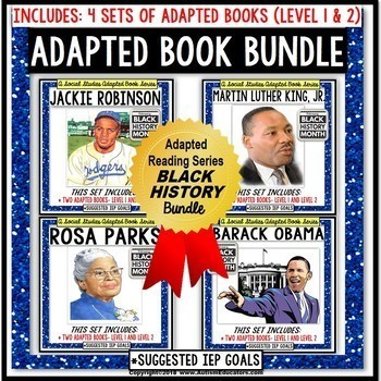 BLACK HISTORY MONTH Adapted Book BUNDLE For Special Education