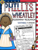 BLACK HISTORY: BIOGRAPHY: PHILLIS WHEATLEY