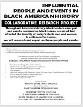 BLACK HISTORY COLLABORATIVE RESEARCH PROJECT-STEP BY STEP