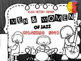 BLACK HISTORY: MEN & WOMEN OF JAZZ COLORING BOOK