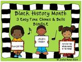 BLACK HISTORY MONTH 3 Easy Chimes & Bells Arrangements BUNDLE