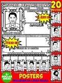 BLACK HISTORY MONTH ACTIVITIES | ESPAÑOL | 20 POSTERS BIOGRÁFICOS