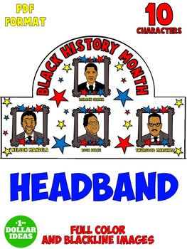 BLACK HISTORY MONTH ACTIVITIES | HEADBAND | CROWN
