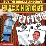 BLACK HISTORY MONTH Activities Bundle -- Big Galoots and ABC Banners