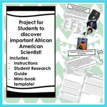 BLACK HISTORY MONTH FAMOUS SCIENTISTS MINI-BOOK RESEARCH PROJECT