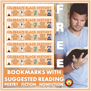 BLACK HISTORY MONTH Free Bookmarks with Reading Suggestions