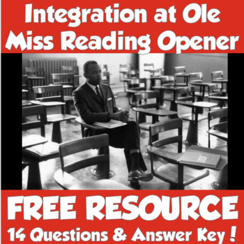 BLACK HISTORY MONTH- Integration at Ole Miss