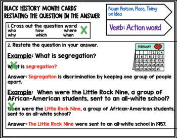 BLACK HISTORY MONTH: LISTENING COMPREHENSION CARDS