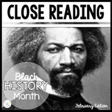 BLACK HISTORY MONTH READING STRATEGIES CLOSE READING & TEX