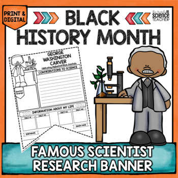 BLACK HISTORY MONTH SCIENTIST RESEARCH BANNER [GEORGE WASHINGTON CARVER]