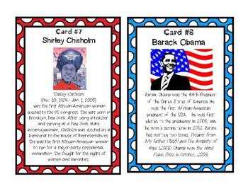 BLACK HISTORY MONTH:  Task Cards / Scavenger Hunt