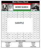 BLACK HISTORY MONTH Word Search Game- Easy to prepare and