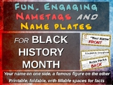 BLACK HISTORY MONTH name tags - 30 names (printable, foldable)