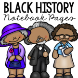 BLACK HISTORY Notebook Research Pages, Famous African Americans Project