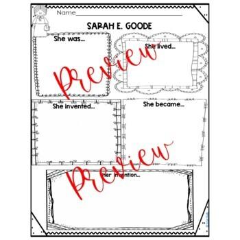BLACK HISTORY Sarah E. Goode