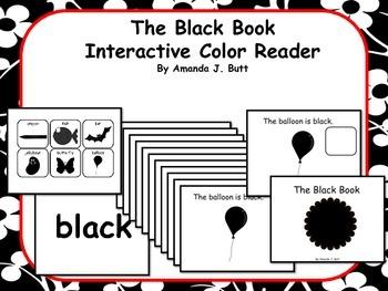 BLACK Interactive Color Sight Word Reader; Kindergarten; Special Education