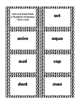 4th Grade Latin & Greek Roots in Vocab Cards Aligned to American Reading Co IRLA