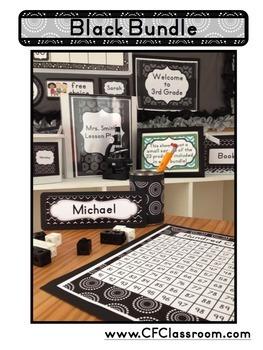 BLACK Classroom Decor EDITABLE