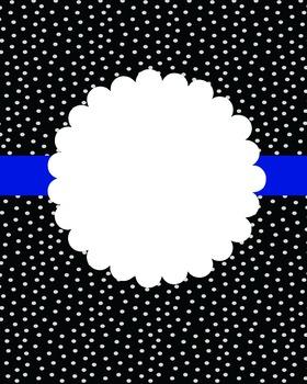 BLACK POLKA DOT - BLUE