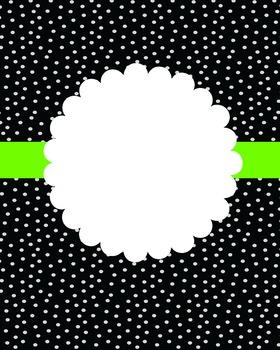 BLACK POLKA DOT - NEON GREEN