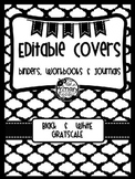 BLACK & WHITE BLISS {editable} BINDER COVERS