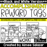 BLACK & WHITE Brag Tags {Academic Accomplishments and Other Successes}