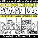 BLACK & WHITE Brag Tags {Academic Accomplishments and Othe