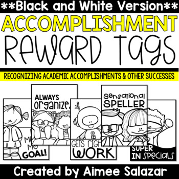 BLACK & WHITE Brag Tags {Academic Accomplishments and Othe