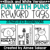 BLACK & WHITE Brag Tags {Fun with Puns}