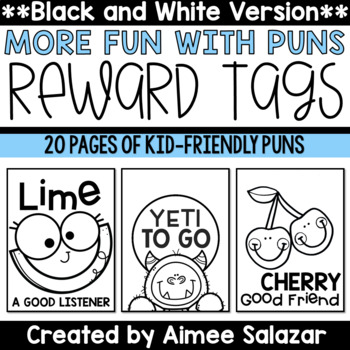 BLACK & WHITE Brag Tags {More Fun with Puns}